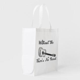 Acoustic Guitar Reusable Bag Reusable Grocery Bags