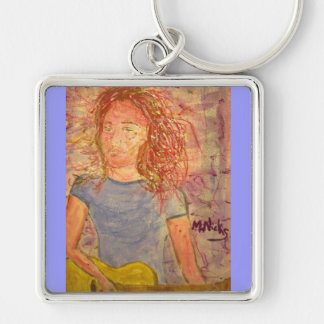 acoustic guitar sand sketch keychain