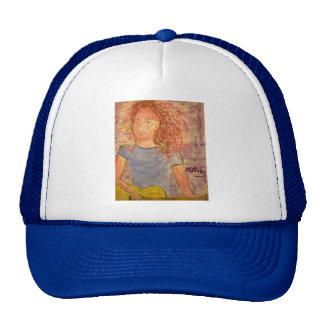 acoustic guitar sand sketch trucker hat