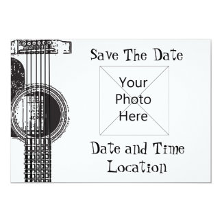 Acoustic Guitar Save the Date Card