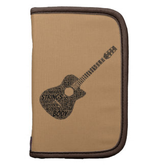 Acoustic Guitar Shaped Word Cloud Folio Planner