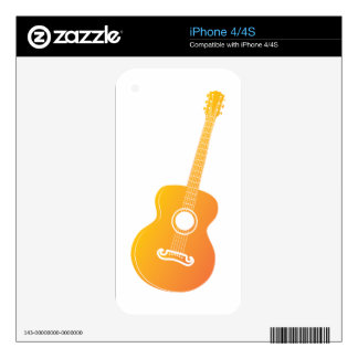 Acoustic guitar silhouette 2 iPhone 4 decal