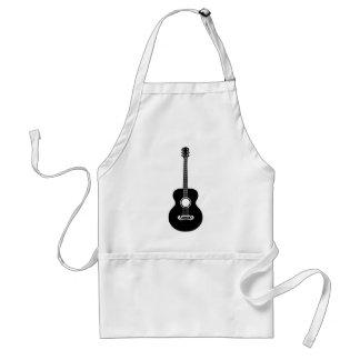 Acoustic guitar silhouette adult apron