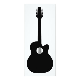 acoustic guitar silhouette card