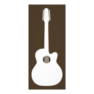 acoustic guitar silhouette personalized invitation