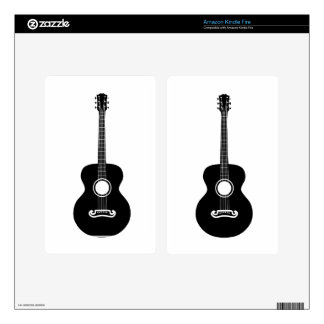 Acoustic guitar silhouette skins for kindle fire