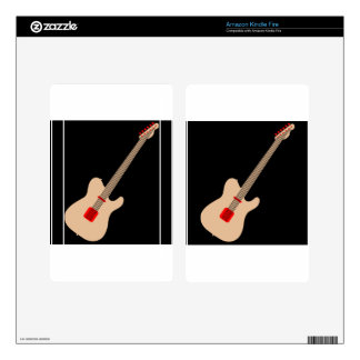 Acoustic guitar skin for kindle fire