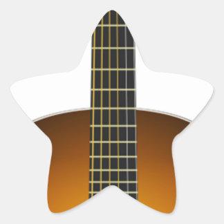 Acoustic Guitar Star Sticker