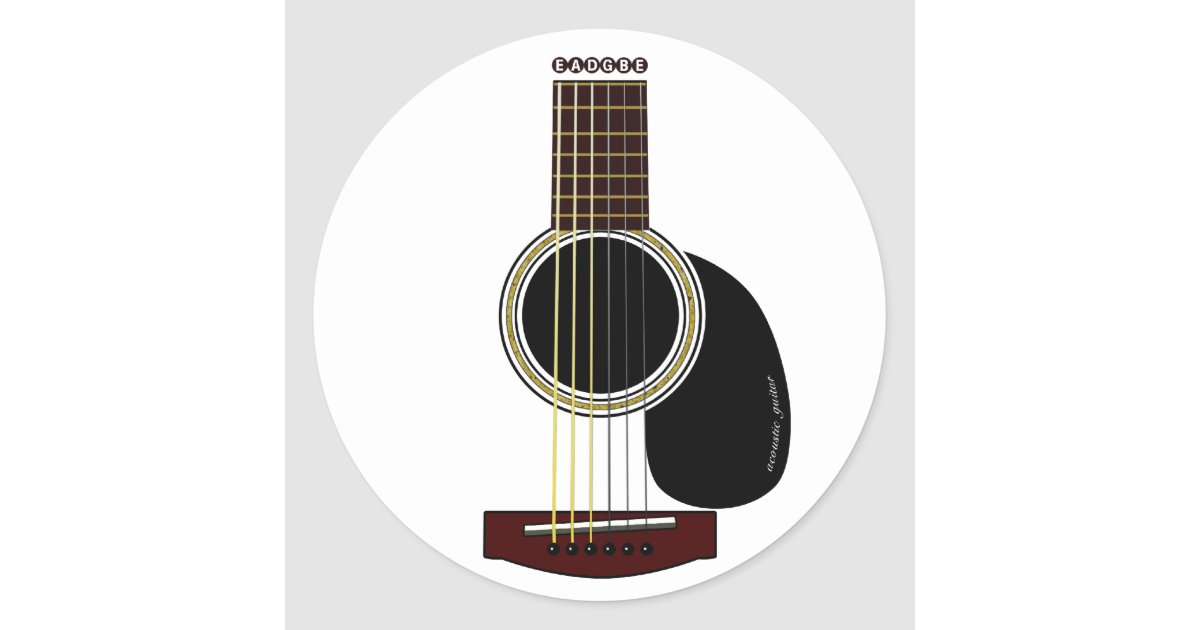 acoustic guitar sticker. Black Bedroom Furniture Sets. Home Design Ideas