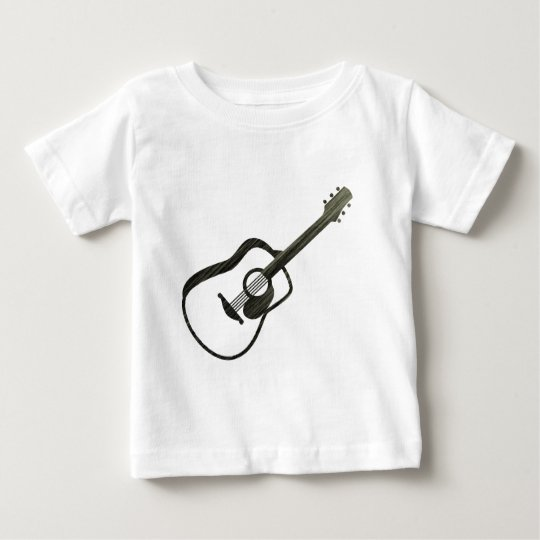 Acoustic Guitar - streaked Baby T-Shirt