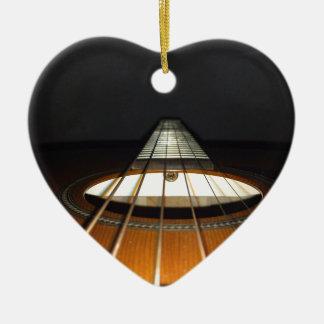 Acoustic Guitar Strings Ceramic Ornament