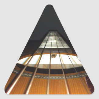 Acoustic Guitar Strings Triangle Sticker