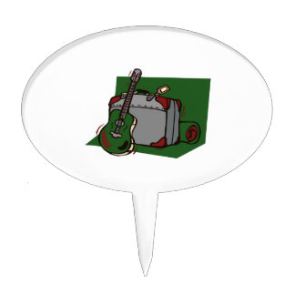 acoustic guitar suitcase green.png cake topper