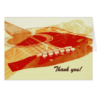 acoustic guitar thank you card