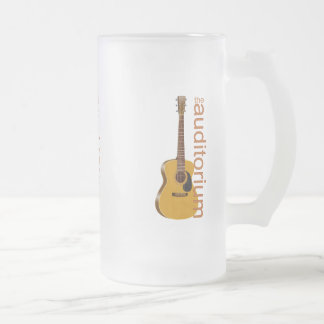 """Acoustic Guitar """"The Auditorium Frosted Glass Beer Mug"""