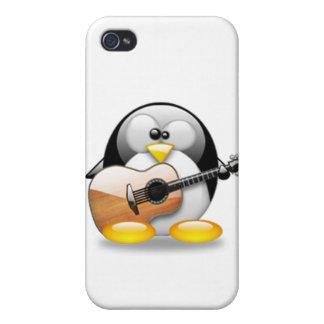 Acoustic Guitar Tux (Linux Tux) iPhone 4/4S Case