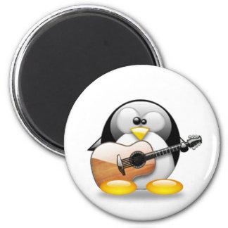 Acoustic Guitar Tux (Linux Tux) Refrigerator Magnet