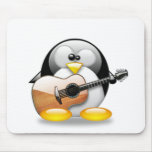 Acoustic Guitar Tux (Linux Tux) Mouse Pad