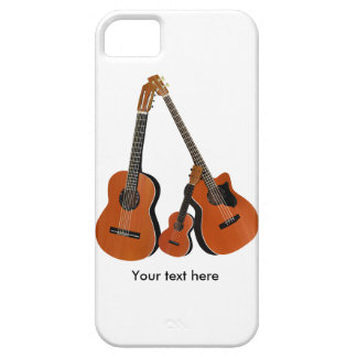 Acoustic Guitar Ukulele and Acoustic Bass iPhone SE/5/5s Case