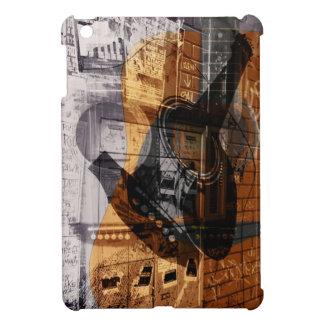 acoustic guitar urban music improvisation collage iPad mini case