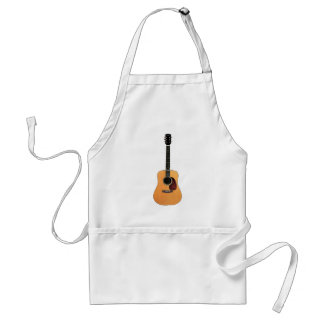 Acoustic Guitar vertical Adult Apron