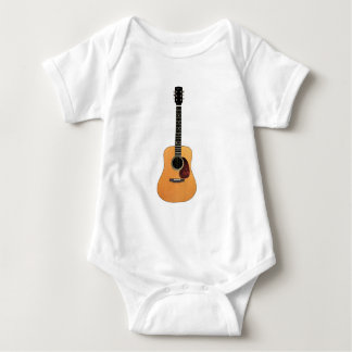 Acoustic Guitar vertical Baby Bodysuit