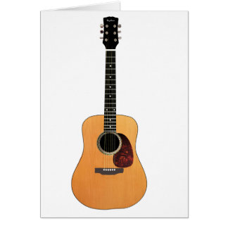 Acoustic Guitar vertical Greeting Cards