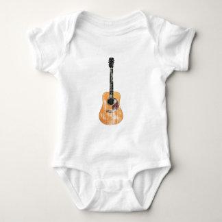 Acoustic Guitar vertical distressed Baby Bodysuit