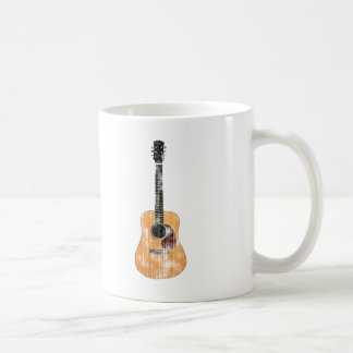 Acoustic Guitar vertical distressed Coffee Mug
