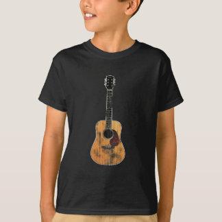 Acoustic Guitar vertical distressed T-Shirt