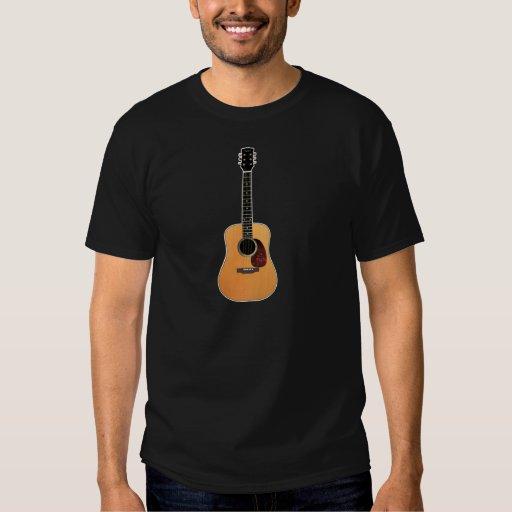 Acoustic Guitar vertical Tee Shirt
