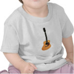 Acoustic Guitar vertical Tee Shirts