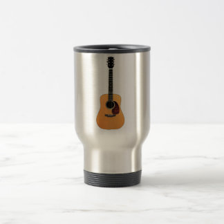 Acoustic Guitar vertical Travel Mug