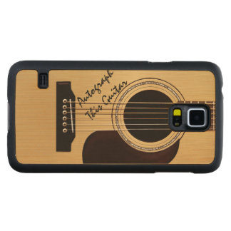 Acoustic Guitar w/ Custom autograph Carved® Maple Galaxy S5 Slim Case