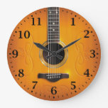 Acoustic Guitar Wall Clock at Zazzle