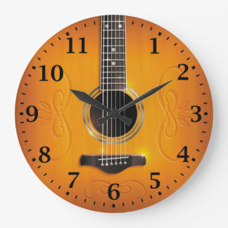 Guitar Wall Clocks Zazzle