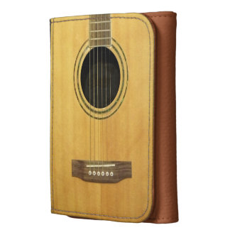 Acoustic Guitar Leather Trifold Wallet
