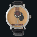 """Acoustic Guitar Watch<br><div class=""""desc"""">Illustration of a classic acoustic guitar.</div>"""