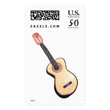 Wedding Themed Acoustic Guitar Watercolor Stamps