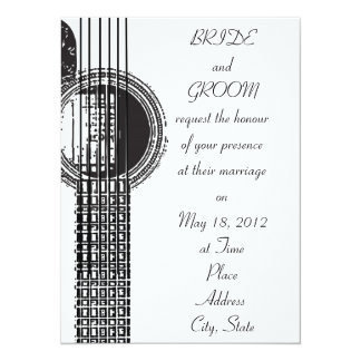 Acoustic Guitar Wedding Invitation