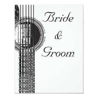 "Acoustic Guitar Wedding Invitation 4.25"" X 5.5"" Invitation Card"