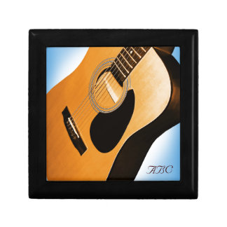Acoustic Guitar with Blue - Personalized Gift Box