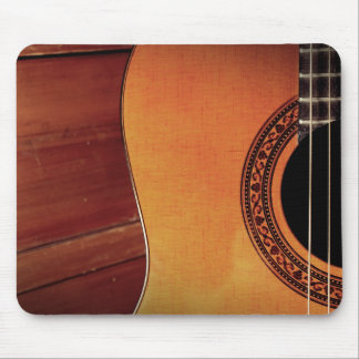 Acoustic Guitar wooden music instrument art Mouse Pads