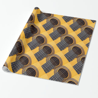 Acoustic Guitar Wrapping Paper Gift Wrap