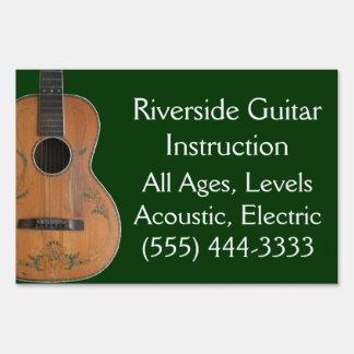 Acoustic Guitar Yard Sign