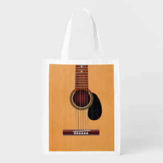 Acoustic Guitar Reusable Grocery Bag