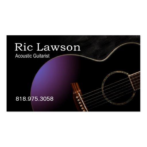 Acoustic Guitarist Musician Music Business Card
