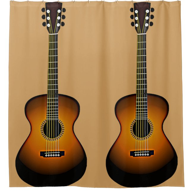 Acoustic Guitars Design Shower Curtain