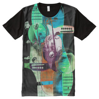 Acoustic guitars music collage All-Over-Print T-Shirt