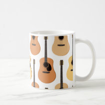 Acoustic Guitars Pattern Coffee Mug